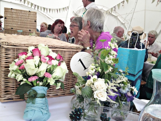 Hampers in the marquee